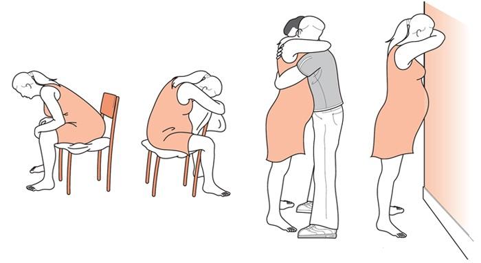 Как облегчить схватки и боль во время родов поддержка
