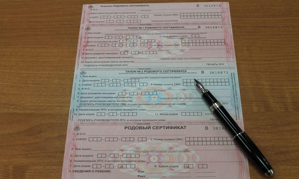 Когда выдают родовой сертификат беременной на руки в 2017 13