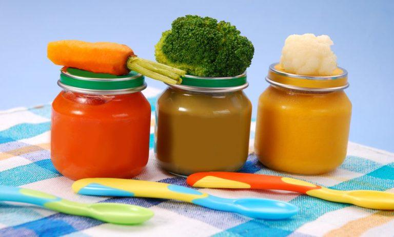 Овощное и фруктовое детское питание